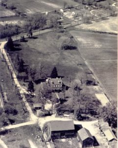 Aerial view of Paulsdale ca. 1950